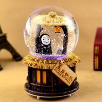 发条水晶球音乐盒八音盒带雪花发光旋转创意生日礼物女生儿童女孩 大号千与千寻 左