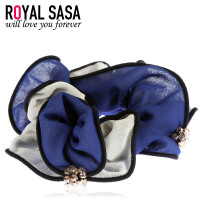 皇家莎莎Royalsasa布艺发圈 发绳韩国盘发发饰品头花橡皮筋头绳 绢纱镶钻人造水晶HS1408SP005