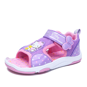 HELLO KITTY童鞋女童凉鞋夏季新款儿童沙滩鞋女孩露趾凉鞋
