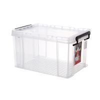 透明收纳箱整理箱大号超大号加厚周转被子衣服收纳盒塑料储物箱 透明 透明特大 59*44*32