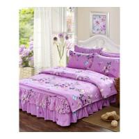 床裙床罩四件套棉款式公主风带荷叶边1.5/1.8m床上可爱卡通