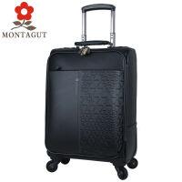 梦特娇时尚英伦风范商务男士皮箱 休闲女士拉杆箱万向轮行李箱旅行登机箱18寸20寸纯牛皮材质