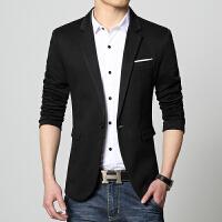韩观春秋韩版修身男士小西装英伦青年薄款上衣西服休闲男装外套单西潮 S 80-95斤