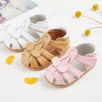 宝宝凉鞋1-3岁夏季女童防滑软底公主鞋婴儿学步机能包头凉鞋
