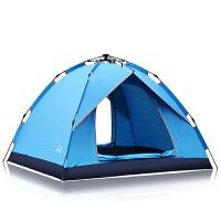 全自动加厚防雨二室一厅2人双人野营露营帐篷套餐帐篷户外3-4人