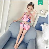 儿童泳衣女女童游泳衣小中大童宝宝分体泳装公主裙式韩国可爱ins