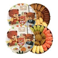 珍妮曲奇 经典四味小盒320g+彩虹小盒320g 2盒 礼盒装 手工曲奇饼干送精美礼品袋 顺丰空运包邮