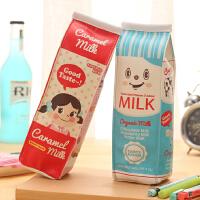 韩国创意零食小笔袋女 学生零钱包铅笔盒仿真饼干文具袋牛奶盒笔袋