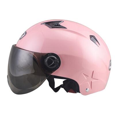 摩托车头盔男女电动车夏季半盔轻便半覆式安全帽防晒防紫外线