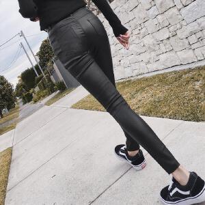 七格格紧身小脚铅笔裤女2017秋装新款韩版百搭学生黑色显瘦长裤休闲裤子