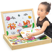 儿童积木磁性画板男孩宝宝益智力早教拼图玩具女孩1-2-3-4-6周岁