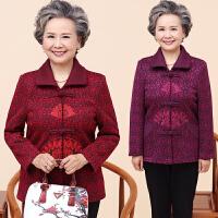 老年人秋装女60-70岁80奶奶装毛呢外套秋冬妈妈唐装上衣老人衣服