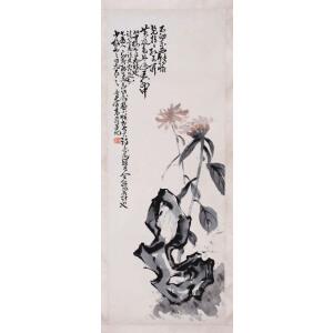 晚清画家   高奇峰《花卉》