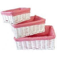 餐桌上的收纳盒收纳筐藤编储物筐柳编篮脏衣服厨房零食杂物盒田园布艺盒