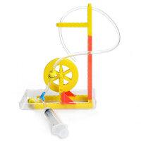 儿童科学实验教具 幼儿园益智玩具物理科技小制作发明水轮车组装
