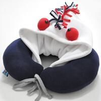可爱连帽U形枕午睡旅行枕卡通头枕 多款