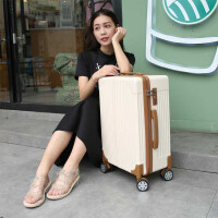 拉杆箱万向轮旅行箱28大加厚行李箱子20密码箱子24寸托运箱包密码 米白色 28寸(巨大)加容设计