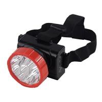 LED强光装5号电池头灯 头戴式防水耐用型户外3节矿灯夜钓骑行照明