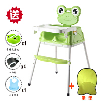 宝宝餐椅婴儿餐桌椅便携式儿童座椅多功能小孩吃饭椅子幼儿学坐椅 升级款 果绿色+礼品+轮子+坐垫