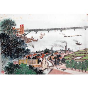 著名艺术家   周元亮《长江航运》