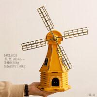 创意家居复古风车存钱罐客厅酒柜书架装饰品摆件房间桌面卧室摆设
