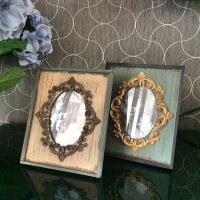 相框摆台创意欧式实木复古办公室家居装饰树脂宝宝婚纱照片小画框 5寸