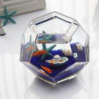 【品牌热卖】多面体个性斗鱼缸创意桌面玻璃鱼缸热带鱼缸加厚超白鱼缸