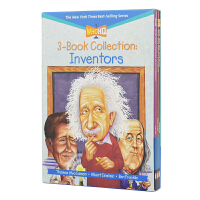 Who Was Inventors Who Is系列名人传记发明家英语绘本3册 爱迪生 爱因斯坦 本杰明富兰克林 儿童英