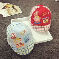 胎帽婴儿帽夏天0-3-6个月男女宝宝帽子棒球帽鸭舌帽棉软春秋防晒