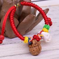 桃木红绳手链桃木剑婴儿宝宝手串儿童挂件随身防小人礼物SN0836 桃篮 儿童(12cm)