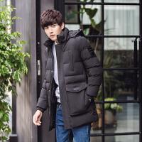 冬季中长款棉衣男士加肥加大码宽松大衣青年超大号带帽棉袄外套潮