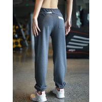 宽松运动休闲裤女长裤跑步健身裤收口卫裤小脚显瘦哈伦裤