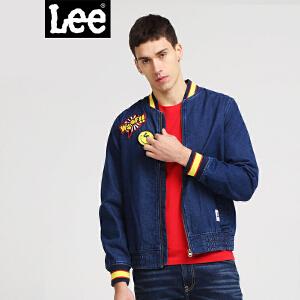 Lee男装 18春夏新品商场同款Smiley印花长袖牛仔夹克L300943AQ8AK