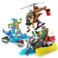 忍者神龟手办模型 动漫公仔套装 可动人偶摆件玩具u4w