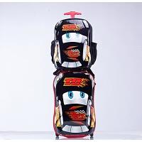 七夕礼物卡通ABS麦昆汽车总动员儿童行李箱可爱拉杆箱包旅行箱子18寸 黑色汽车背包+拉杆箱