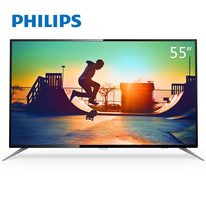 飞利浦(PHILIPS)55PUF6192/T3 55英寸 HDR 二级能效5核GPU安卓5.1系统4K超高清WIFI智能液晶电视机(黑色)4K爆品HDR画质,主流人工智能配置