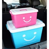 加厚收纳箱衣服整理箱塑料衣柜收纳有盖大小号手提棉被储物箱带轮 +170L