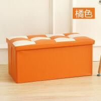 收纳凳皮革换鞋凳收纳凳储物凳大号整理箱可折叠沙发凳可坐人T
