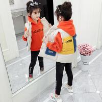 女童秋冬装套装秋装大童童装儿童卫衣三件套