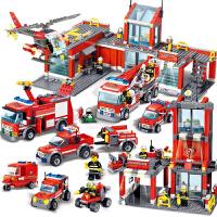乐高积木男孩子警察消防车城市组装模型女孩小学生儿童玩具6-12岁