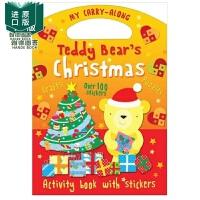 【预 售】Teddy Bear's Christmas泰迪熊的圣诞节 英文儿童互动童书 圣诞节礼物 英文原版图书籍进口正