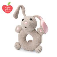 applepark婴儿摇铃可入口可啃咬宝宝抓握摇铃安抚有机棉益智玩具