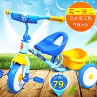 儿童自行手推车遛娃儿童三轮车简易轻便脚踏车2-3-4-5岁宝宝