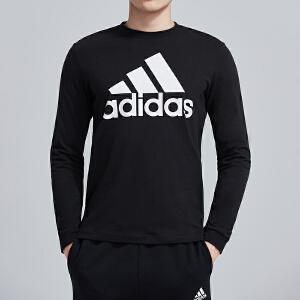 adidas阿迪达斯男子长袖T恤透气圆领休闲运动服DH3982