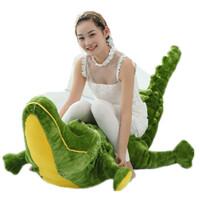 创意大号鳄鱼2米毛绒玩具靠垫大型布娃娃女生生日礼物 2.