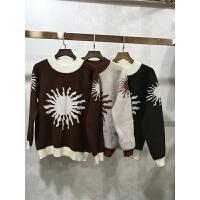L6针织衫长袖女新韩版宽松女装半高领套头毛衣打底衫秋冬