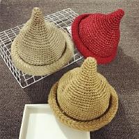 儿童帽子冬加绒保暖渔夫帽尖尖奶嘴帽针织毛线帽秋季男女宝宝帽子