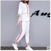 初中高中学生运动套装女时尚运动服装女韩版女装宽松短袖七分裤休闲两件套支持礼品卡支付