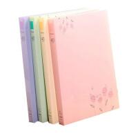 树德A4 资料册 40页 彩色学生插页试卷夹 插袋文件夹FB204 颜色随 机一个