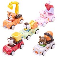 儿童玩具车男孩2-3-4岁1回力车小汽车宝宝大号压力惯性工程车套装